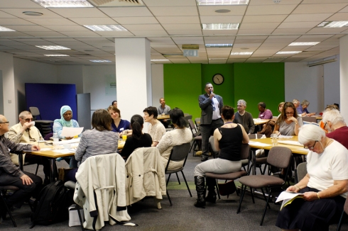 Olav Ernstzen at an Islington Healthwatch meeting which makes use of more than 60 volunteers. (c) Islington Healthwatch