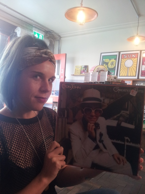 "Vickie Farquharson: trainee manager at Gorilla choosing the next record to be played. ""In Camden Passage you forget the hustle and bustle of London."""