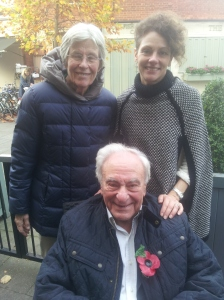 "Islington-born Charles Baron with his wife Julia Baron and Charles' daughter from his second marriage, Sarah Clay. Sarah: ""We all like Islington, at one point myself and three of my six brothers were all living a quarter of a mile from where Dad used to live. Adam was on Upper Street, I was on Essex Road above Mosquito bikes and Marcus and Jason were on Roseberry Avenue."""