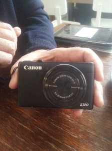 "Photographer Colin O'Brien's Cannon S120. ""I use it as a sketchbook. It's my second. The Gentle Author from Spitalfields LIfe dropped my last one into a pond. It survives anything, except a dunking."""