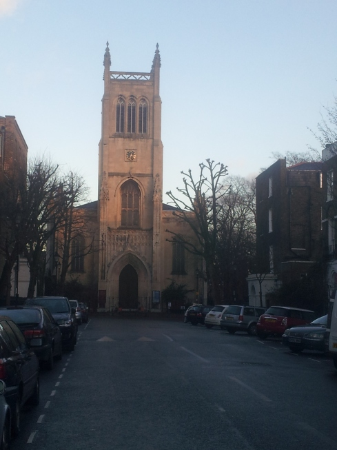 St Paul's Church, Myddleton Square - just off Amwell Street - has a memorial to the Finsbury Rifles who fought in WW1.