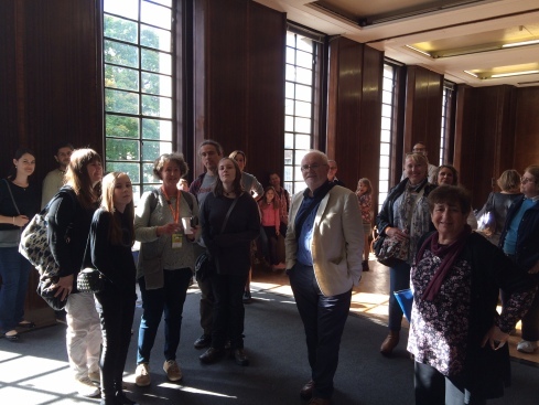 Oonagh Gay's Hornsey Town Hall tour. (c) crouchendwalk/inspiringlondonwalks