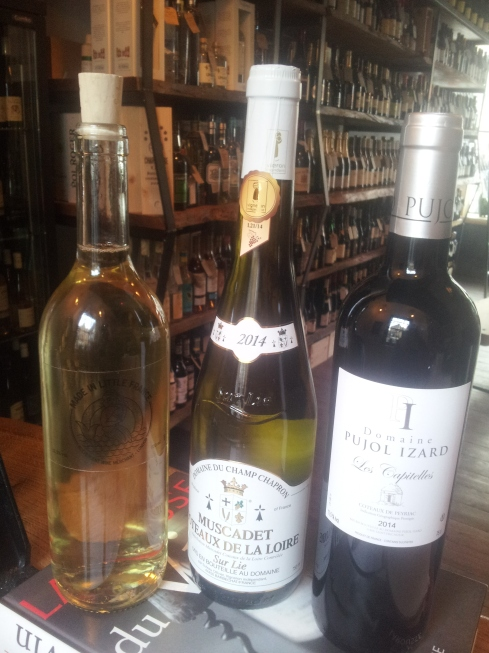 Wine sold at Made in Little France. You can also refill bottles of white, red (and rosé in the summer) from the vat for £7.50.